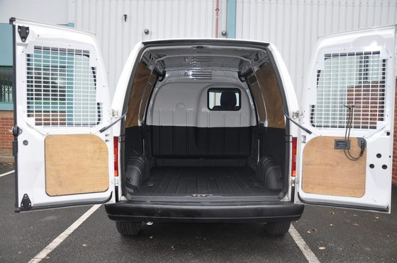 floor and half sides LINE-X van lining