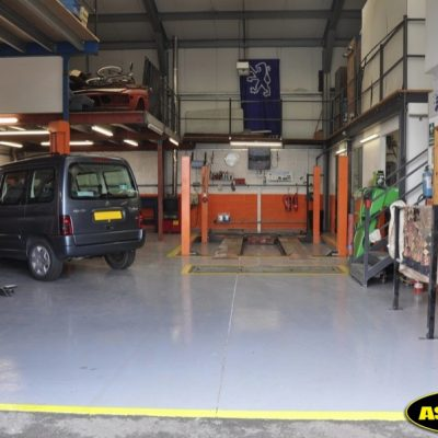 ASPART-X garage floor
