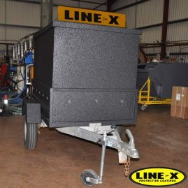 Customised trailer ifor willams full LINE-X exterior