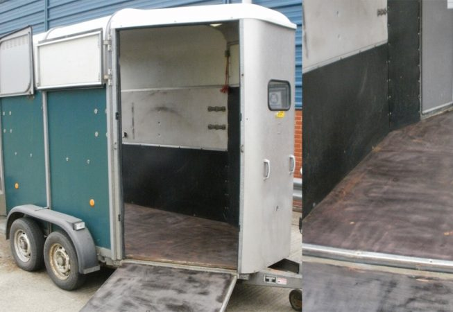 Horse Box before LINE-X