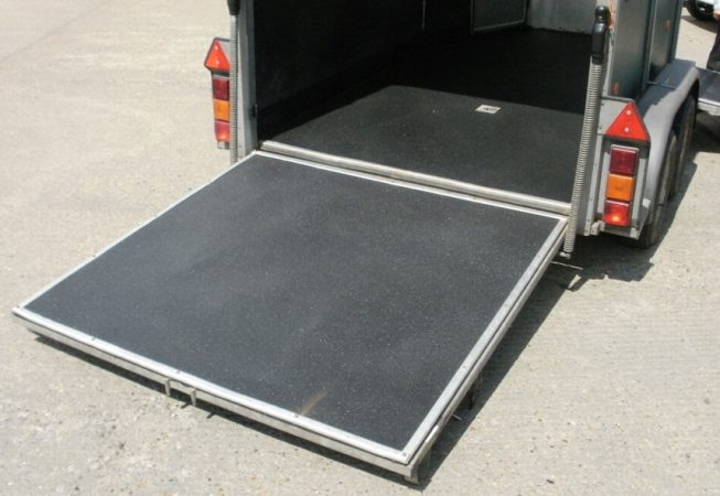 Horse Box with LINE-X Floor