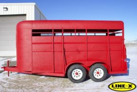 Horse Trailer with LINE-X exterior