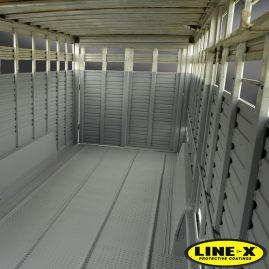 Horse Trailer with LINE-X interior
