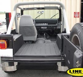 Jeep Wrangler with LINE-X load liner