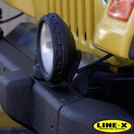 Jeep frontside surround with LINE-X coating