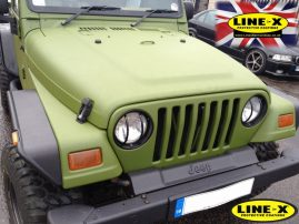 Jeep with full LINE-X body
