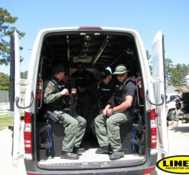 LC SWAT Van with LINE-X interior