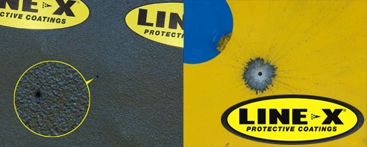 LINE-X Spall Liner Plates close up