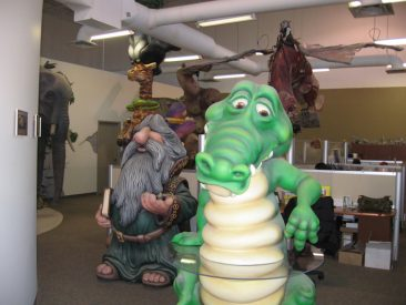 LINE-X Troll and Alligator Movie Prop