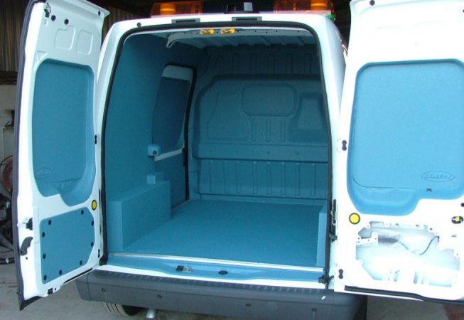 LINE-X coloured van liner