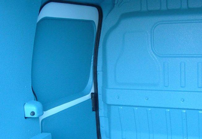 LINE-X coloured van liner close up