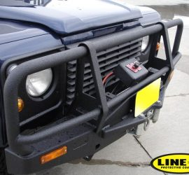 Land Cruiser bars bumpers roof lower Rockers-LINE-X coated