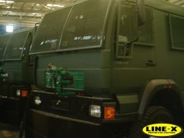 MAN Army Trucks with LINE-X
