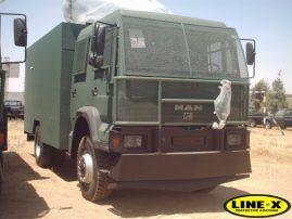 MAN Army Trucks with LINE-X