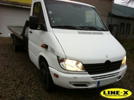 Mercedes Benz Sprinter LINE-X out side cab