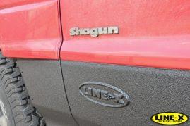 Mitsubishi Shogun LINE-X protection