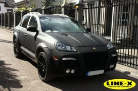 Porsche Cayenne with LINE-X body