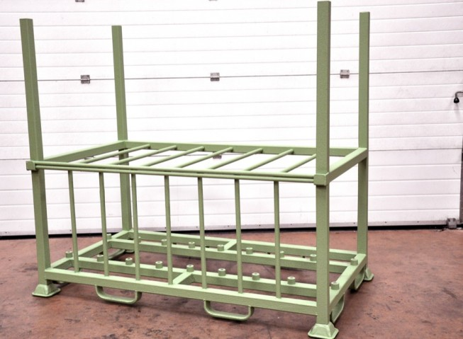 Stillage coated with LINE-X