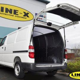 Toyota Hiace Van with LINE-X van liner