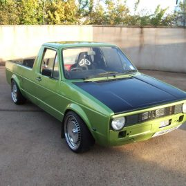 VW Caddy Pickup after LINE-X application