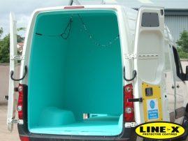 VW Crafter with LINE-X van liner