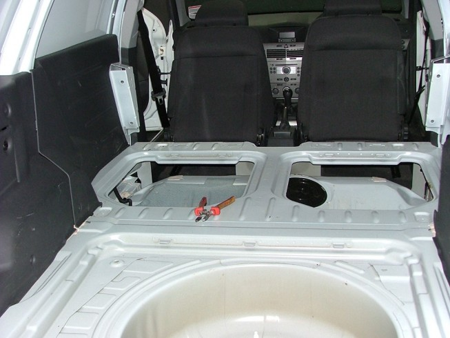 Vauxhall Astra before LINE-X