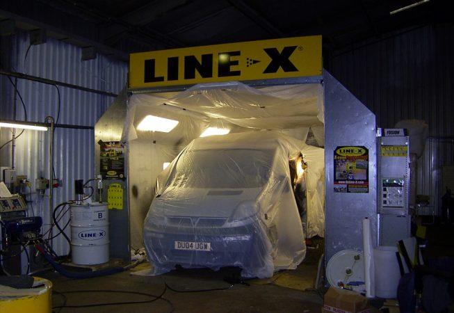Window Cleaner Van before LINE-X
