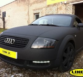 audi tt fully coated with LINE-X
