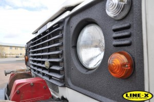 Land Rover Defender light surrounds LINE-X