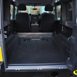 Land Rover Defender with LINE-X load liner