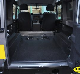 Land Rover Defender with LINE-X load liner