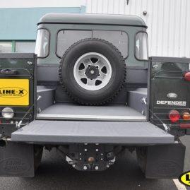 Land Rover Defender grey LINE-X load liner