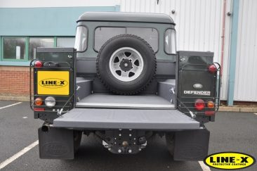 Land Rover Defender grey LINE-X load liner