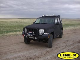 jeep fully coated with LINE-X