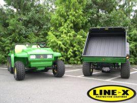 john deere gators with LINE-X load beds