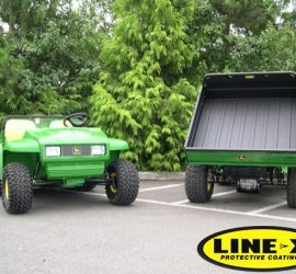 john deere gators with LINE-X load beds