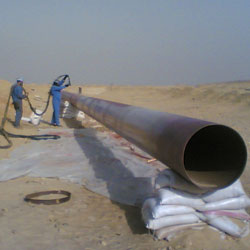 Aquaurethane extrem pipe lining