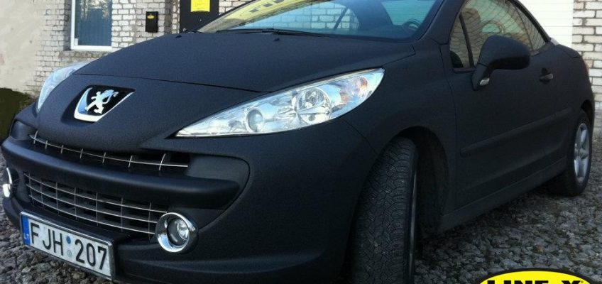 Peugeot fully coated with LINE-X
