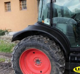 tractor wheel arch protected with LINE-X