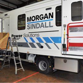 workshop truck with LINE-X floor