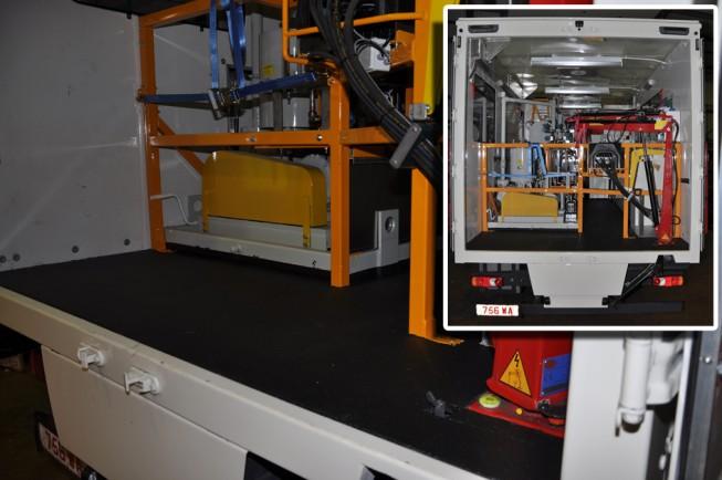 workshop truck with LINE-X floor 3