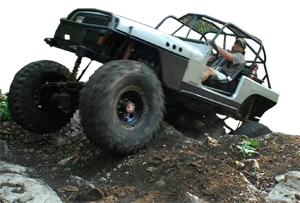 LINE-X protected 4x4