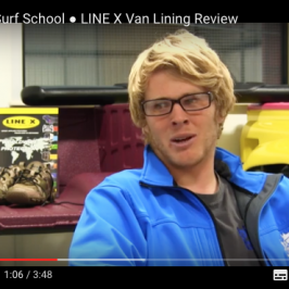 LINE-X Van Lining gjennomgang av Big Blue Surf School * VIDEO *