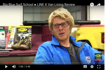 LINE-X Van Forro revisão por Big Blue Surf School * VIDEO *