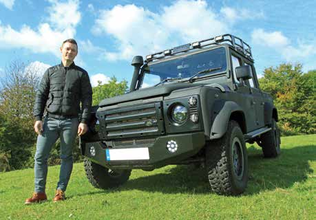 Richard Jones with LINE-X Land Rover - Picture Copyright Hils Everitt