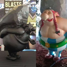 LINE-X Hard Coating For Foam Sculptures – Obelix